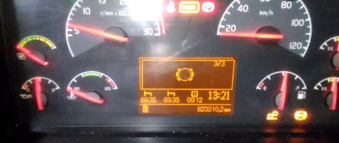 Горит значёк износа тормозных колодок Volvo Fh;