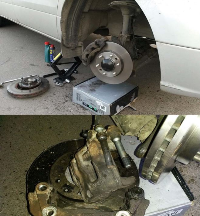 Замена ступицы и тормозных дисков Hyundai Grand Starex (2009 г.в.)